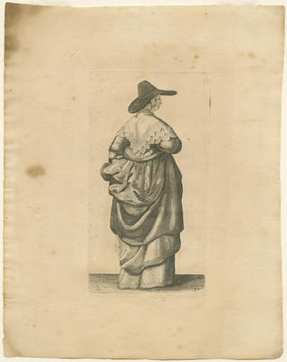 Lady with Hat with Wide Brim
