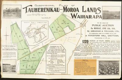 Plan, Tauherenikau - Moroa land for sale