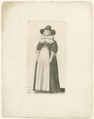 Lady with Wide Brimmed Hat and Ruff