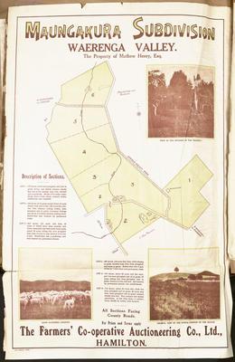 Plan, Maungakura land for sale