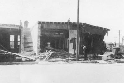 Damaged building, Hawke's Bay