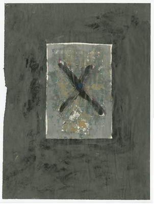 Untitled - abstract with cross; Mason, William; 93/55/37