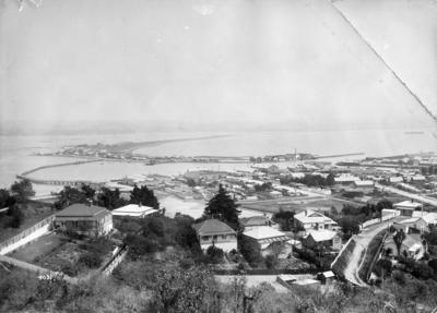 Port Ahuriri and Westshore from Hospital Hill