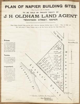 Plan, Napier building sites for sale