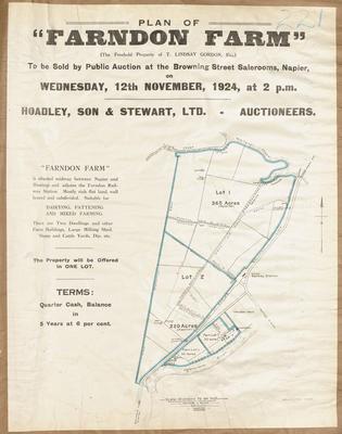 Plan, Farndon farm property for sale