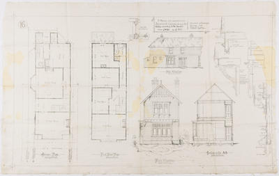 Architectural Plan, Seven Bedroom House; MacKay, John