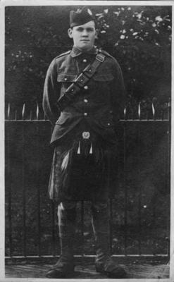 Photograph, unidentified New Zealand soldier