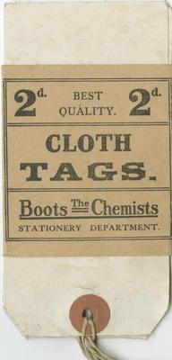 Cloth Tags, Boots the Chemist