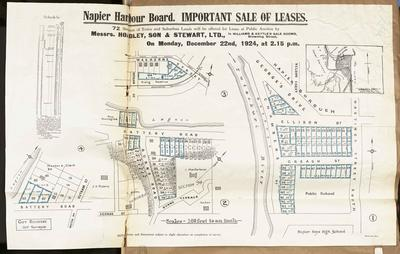 Plan, Napier Harbour Board sale of leases