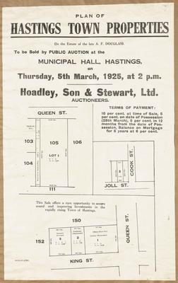 Plan, Hastings residential properties for sale; Herald Lithography
