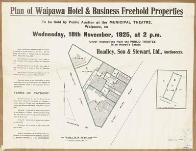Plan, Waipawa Hotel and business freehold properties for sale