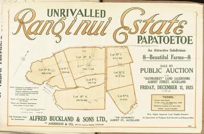 Plan, Ranginui Estate land for sale