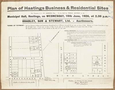 Plan, Hastings business & residential sites for sale