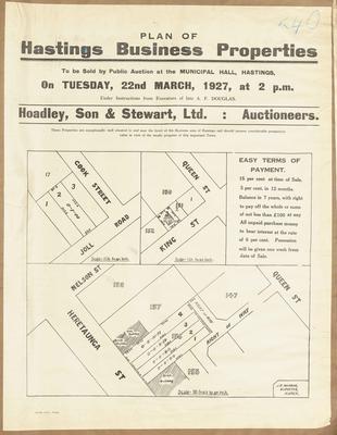 Plan, Hastings business properties for sale