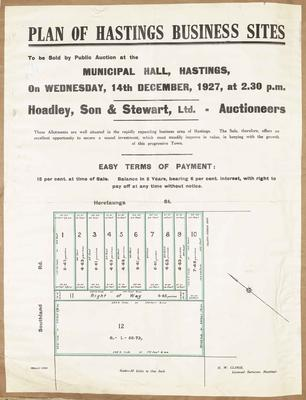 Plan, Hastings business sites for sale