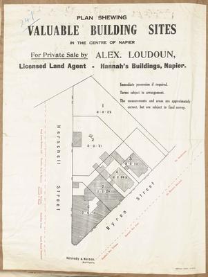 Plan, Napier central building sites for sale