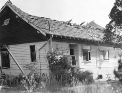 Damaged house, Hawke's Bay