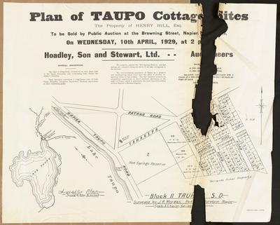 Plan, Taupo cottage sites for sale