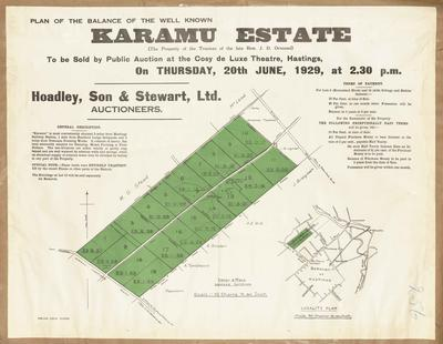 Plan, balance of the Karamu Estate land for sale