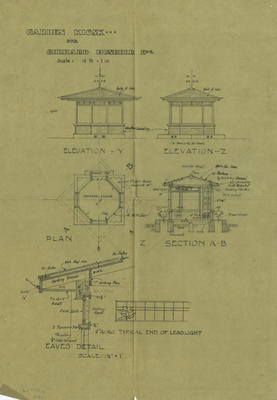 Architectural plan, Gerhard Husheer's Garden Kiosk