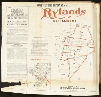 Plan, Hawke's Bay land district No 434 land for sale
