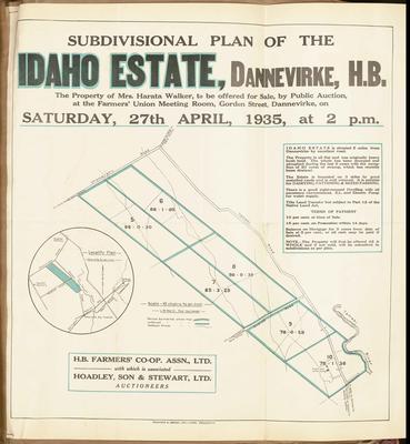 Plan, Idaho Estate land for sale; Ferguson & Osborn Ltd; Ward, L W