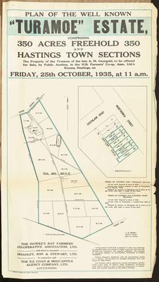 Plan, Turamoe Estate land for sale