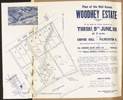 Plan, Woodley Estate land for sale