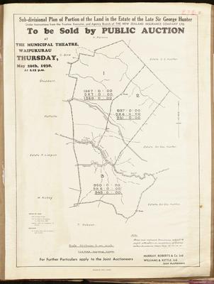Plan, Waipukurau land for sale