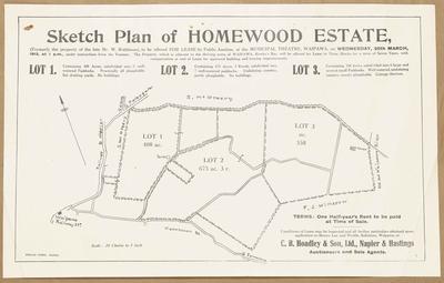 Plan, Homewood Estate land for sale