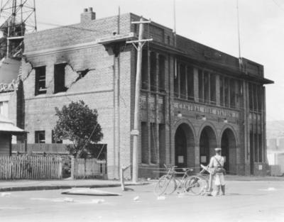 Napier Fire Station, Tennyson Street, Napier; Moodie, Frank L