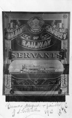 Napier Railway Banner, 1913