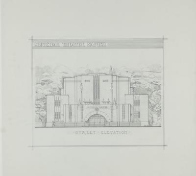 Plan, proposed Municipal Theatre, Napier