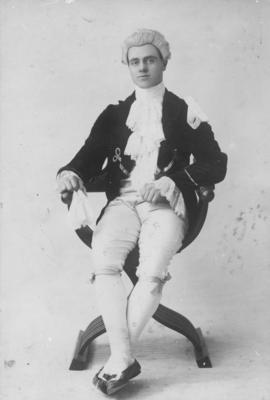 James Augustus Louis Hay dressed as an eighteenth century gentleman