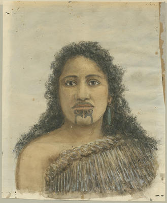 Untitled - Portrait of a Young Māori Woman