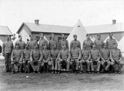 Group of soldiers at Trentham Military Camp