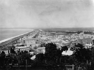 View of Napier from Napier Hill looking towards Cape Kidnappers