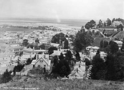 View of Napier from Brewster Street looking towards the Inner Harbour