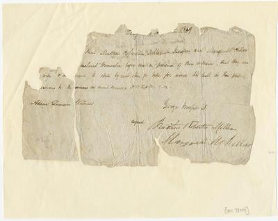 Marriage Certificate, Matthew Robertson Miller and Margaret McKellar