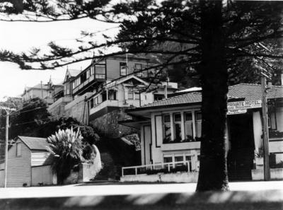 Seaview Terrace from Marine Parade, Napier; Williams, David Godfrey