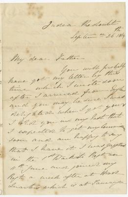 Letter, Robert Curtis; Curtis, Robert