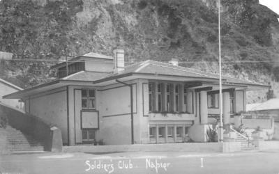 Napier Soldiers' Club, Marine Parade, Napier