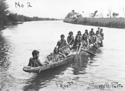 Carnival or Regatta on the Tutaekuri River; Sorrell & Son
