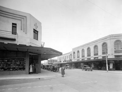 Corner of Tennyson and Hastings Streets, Napier
