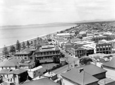 Napier looking towards Te Mata Peak