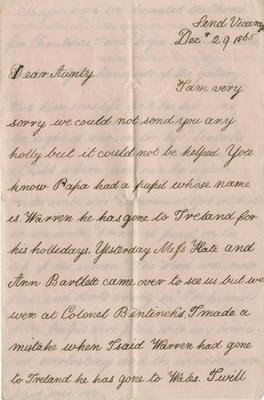 Letter, Hugh Roddam Tate