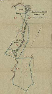 Plan, Te Mata district land