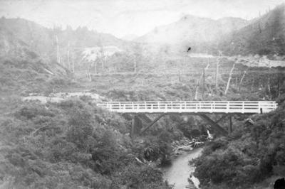 Bridge over Waipunga River, Hawke's Bay; Kennedy, Charles Dugald