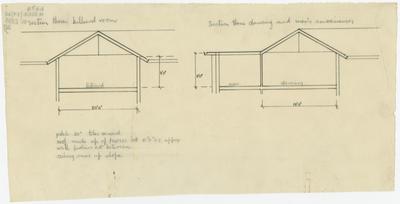Architectural Plan, Napier Soldiers' Club, Marine Parade