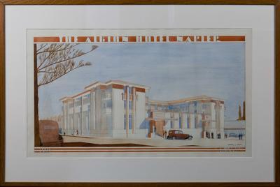 Architectural plan, Albion Hotel, Napier; Hay, James Augustus Louis; Wolfe, Leonard J